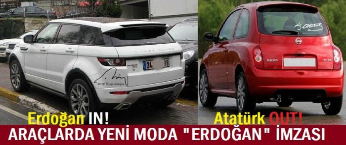 otomobillerde erdoğan imzası