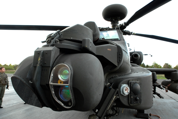 Apache Helicopter Nose Optics and Sensors