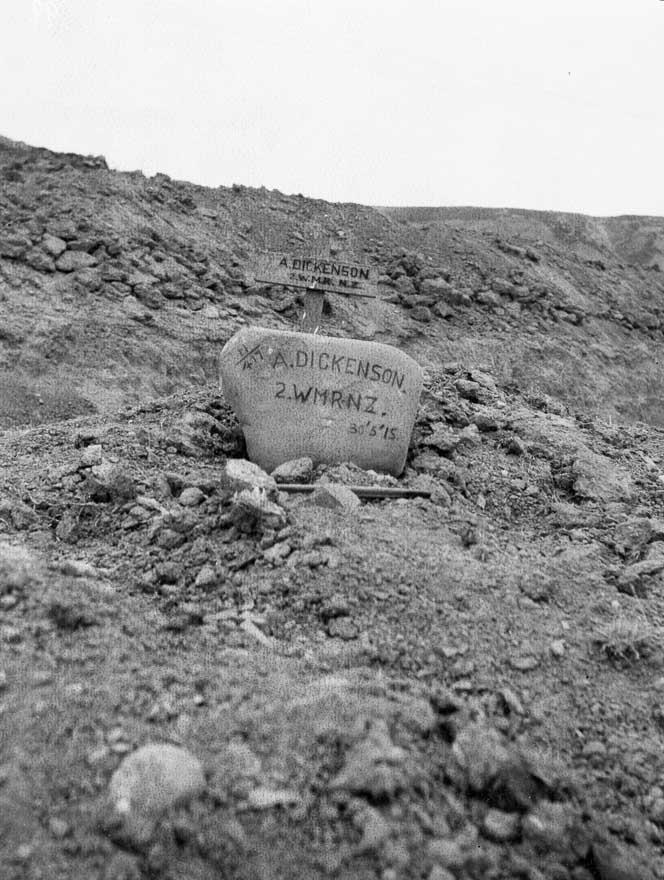 30 May 1915 Alfred Dickenson Gelibolu yakınlarında mezar