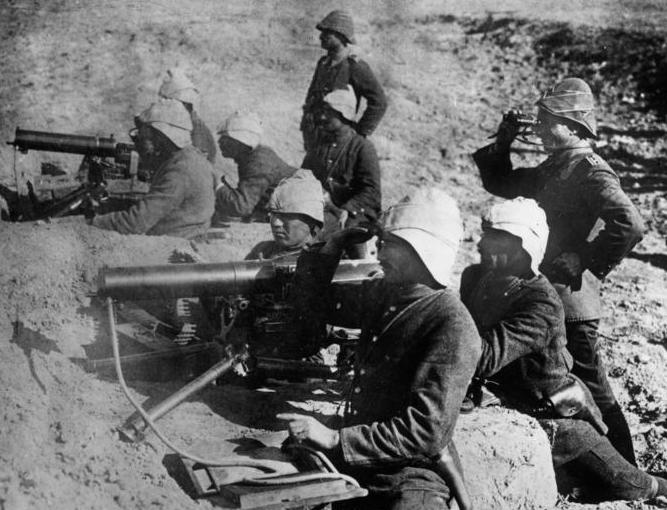 Türkei, Dardanellen, MG-Stellung