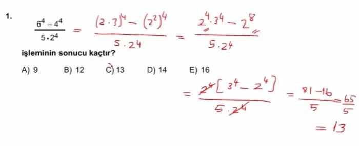 2016 LYSmat soru 1