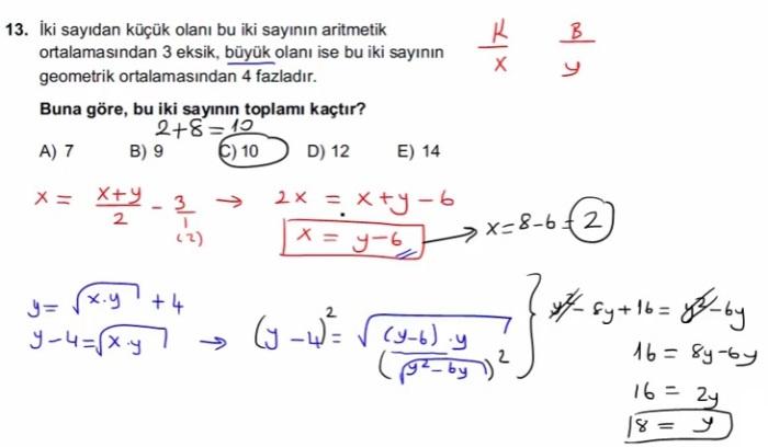 2016 LYSmat soru 13