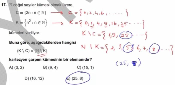 2016 LYSmat soru 17