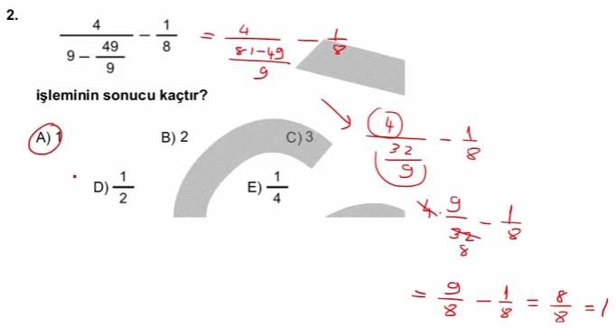 2016 LYSmat soru 2