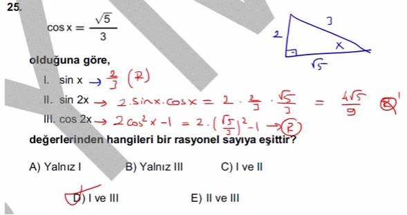 2016 LYSmat soru 25