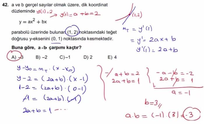 2016 LYSmat soru 42