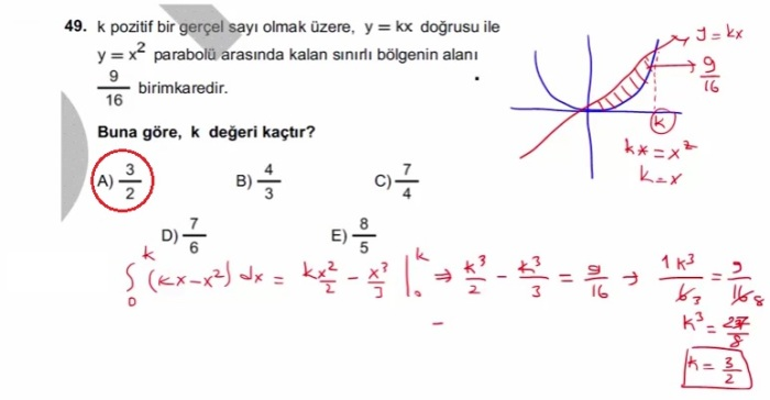 2016 LYSmat soru 49
