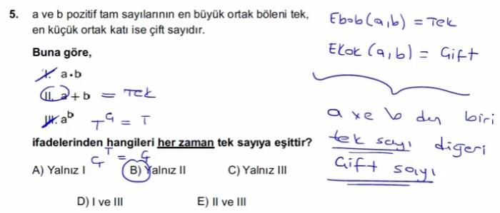 2016 LYSmat soru 5