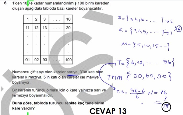 2016 LYSmat soru 6