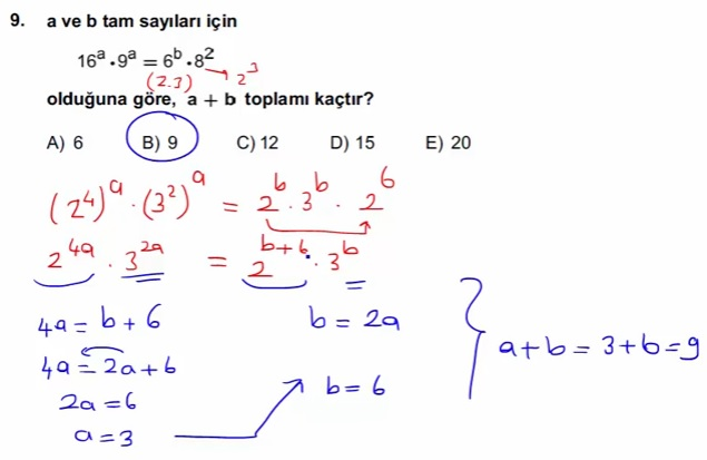 2016 LYSmat soru 9
