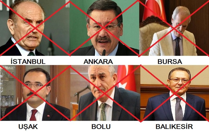 Erdoğan yıkılışı durdurmaya çalışıyor, istifası istenen belediye başkanları